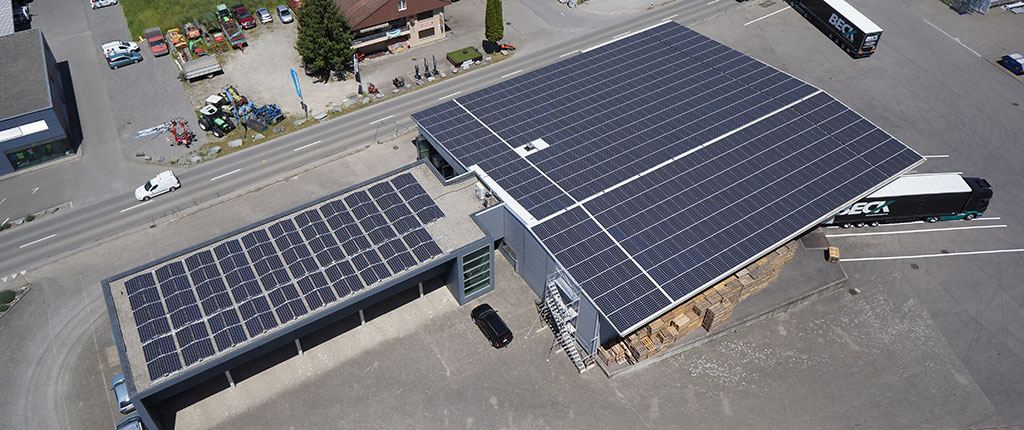 Beck Transport, Mauren, Leistung 233.2 kWp